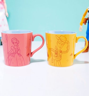 Disney Toy Story Woody And Bo Peep Set Of Two Mugs