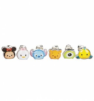 Disney Tsum Tsum Set Of 6 Stud Earrings