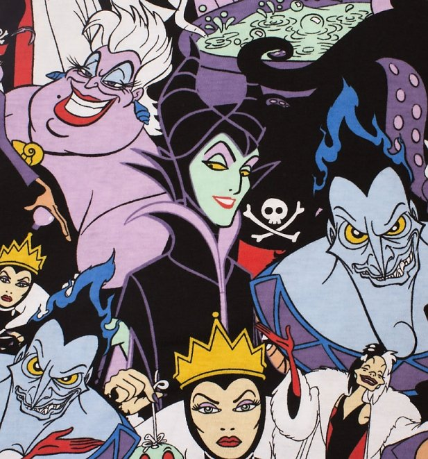 Disney Villains All Over Print T-Shirt from Cakeworthy