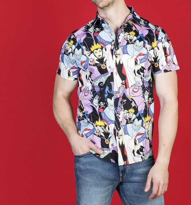Disney Villains Button Up Short Sleeved Shirt from Cakeworthy