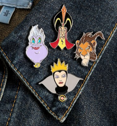 Disney Villains Set of Four Enamel Pins
