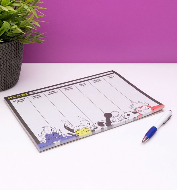 Disney Villains Weekly Planner A4 Desk Pad