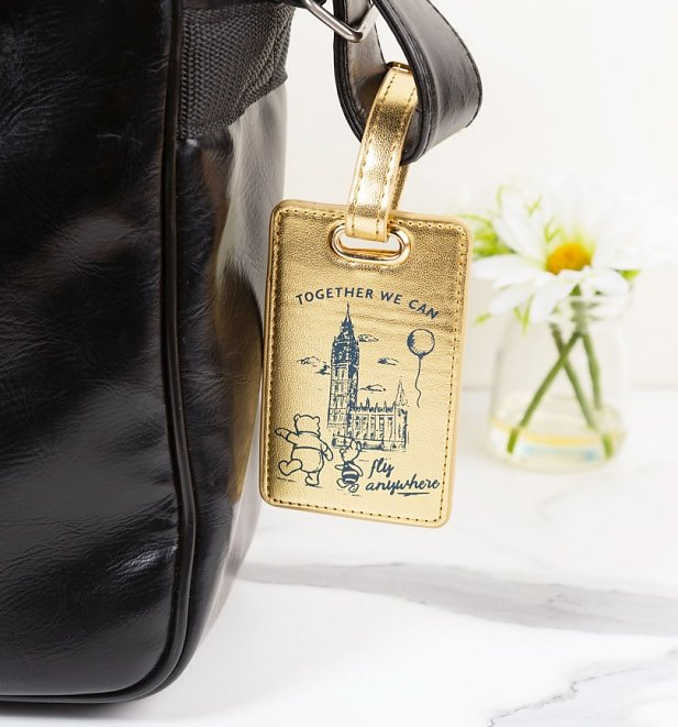 Disney Winnie The Pooh Fly Anywhere Metallic Luggage Tag