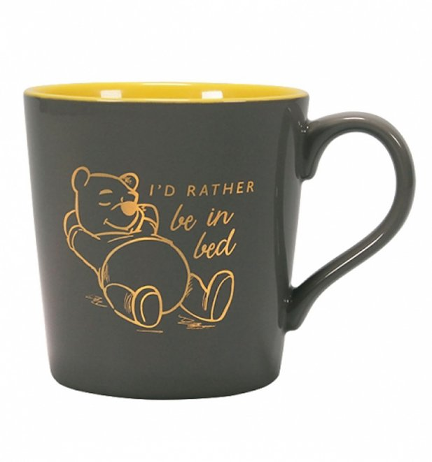 Disney Winnie The Pooh Rather Be In Bed Foil Finish Mug