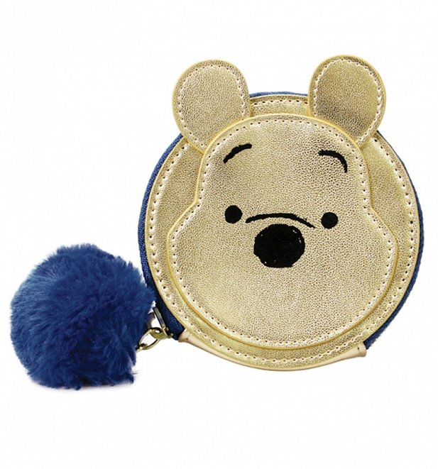 Disney Winnie The Pooh Shaped Metallic Coin Purse