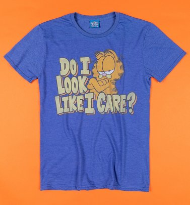 Do I Look Like I Care Blue Garfield T-Shirt