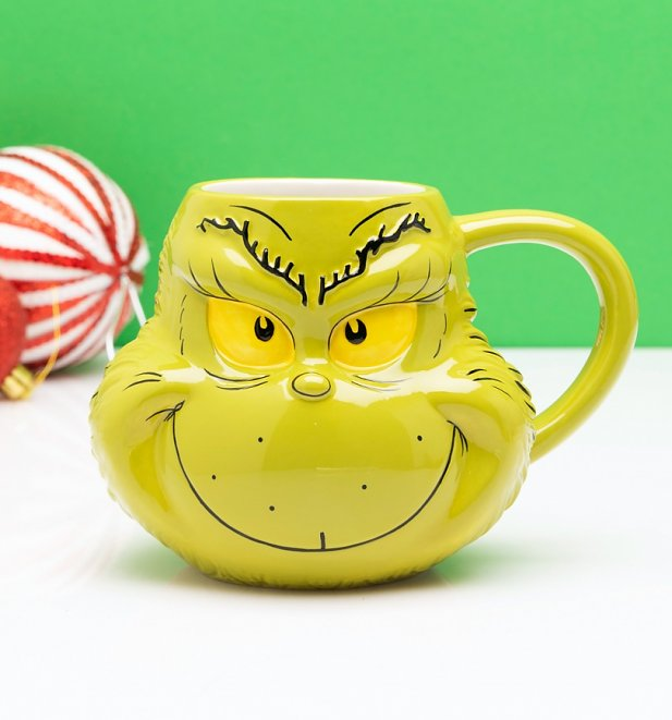 Dr Seuss The Grinch Shaped Mug
