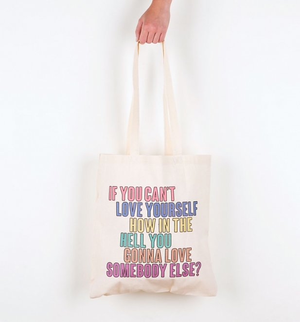 Drag Race Inspired Love Yourself Tote Bag