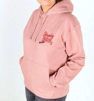 Drag Race Inspired Shady Bitch Embroidered Dusty Pink Hoodie
