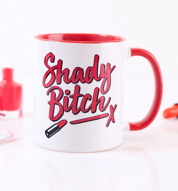 Drag Race Inspired Shady Bitch Red Handle Mug