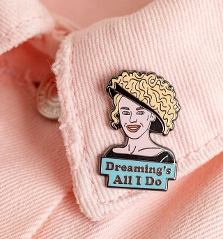 Dreaming's All I Do Kylie Enamel Pin