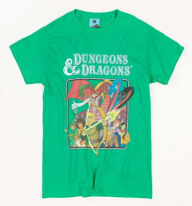 Dungeons And Dragons Cartoon Green T-Shirt