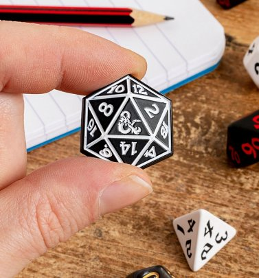 Dungeons and Dragons Dice Enamel Pin Badge