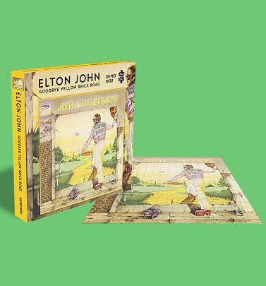 Elton John Goodbye Yellow Brick Rock 500 Piece Jigsaw Puzzle from Rock Saws