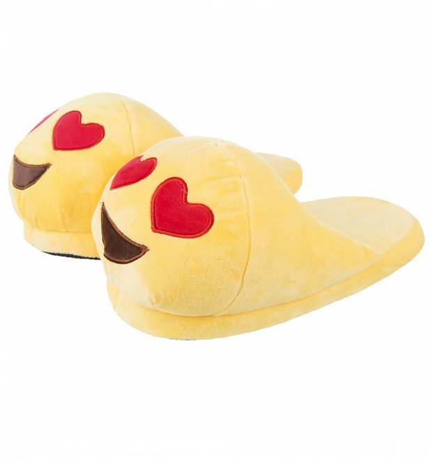 Emoji Love Heart Smiley Slippers