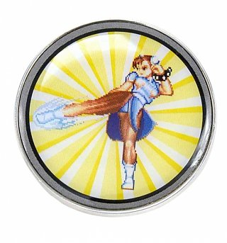 Enamel Street Fighter Chun-Li Badge