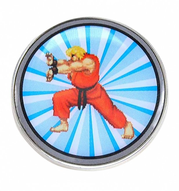 Enamel Street Fighter Ken Badge