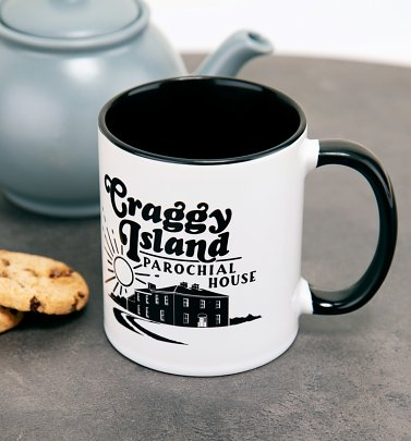 Father Ted Inspired Craggy Island Parochial House Black Handle Mug