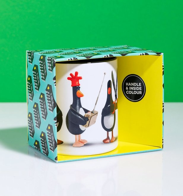 Feathers McGraw Line Up Mug With Black Handle