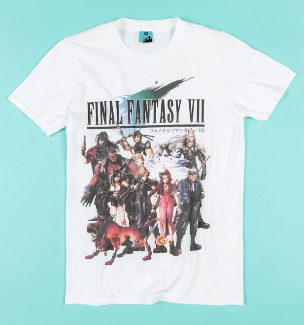 Final Fantasy VII Group White T-Shirt