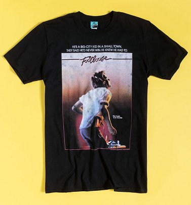Footloose Movie Poster Black T-Shirt