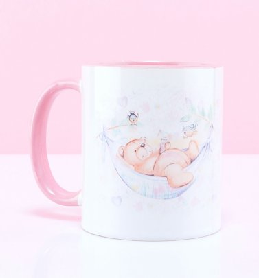 Forever Friends Bear Pink Handle Mug