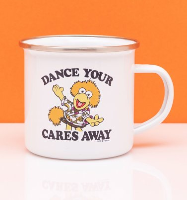 Fraggle Rock Dance Your Cares Away Enamel Mug