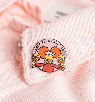Fraggle Rock Dance Your Cares Away Pin Badge