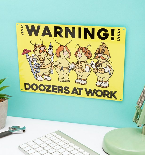 Fraggle Rock Doozers At Work Metal Sign