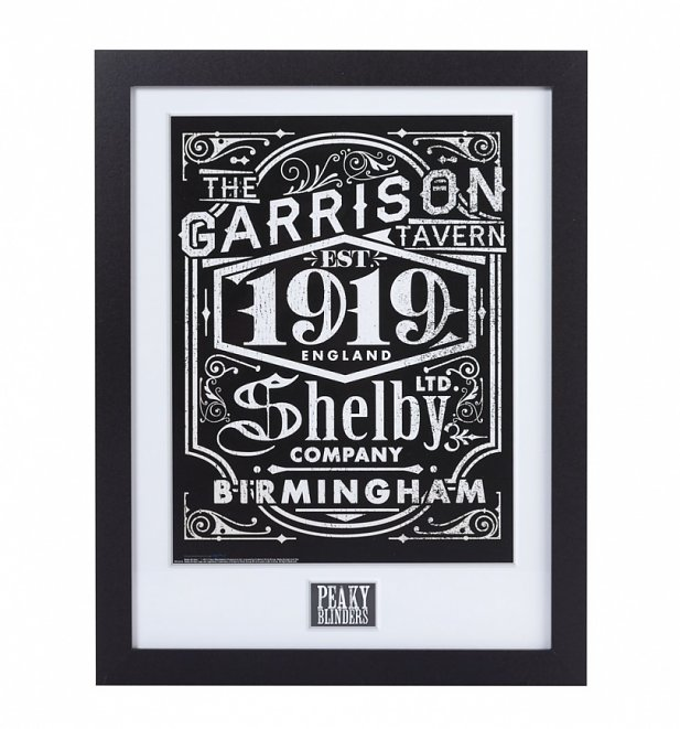 Framed Peaky Blinders Shelby Company Limited 30cm x 40cm Art Print