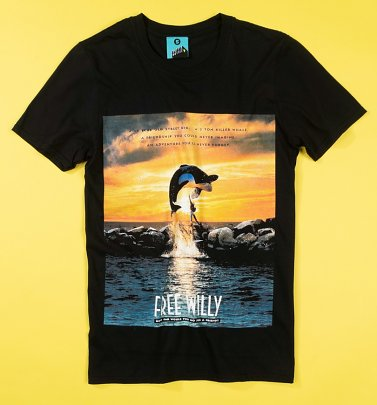 Free Willy Movie Poster Black T-Shirt