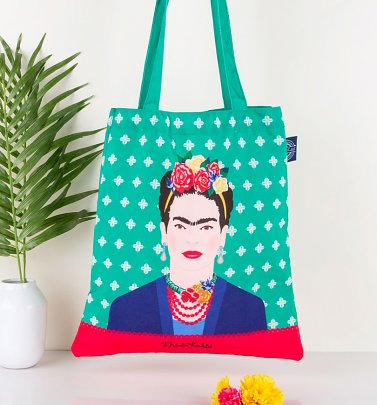 Frida Kahlo Green Tote Bag