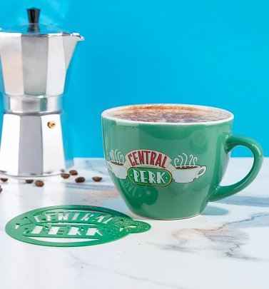 Friends Central Perk Cappuccino Mug with Stencil