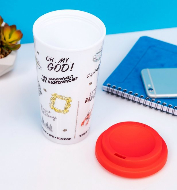 Friends Icons Printed Travel Mug
