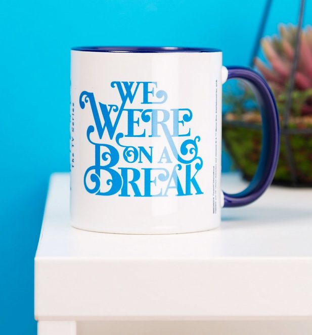 Friends On A Break Blue Handle Mug