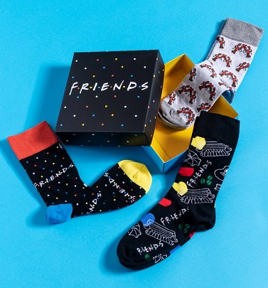 Friends Pack of Three Socks in Gift Box