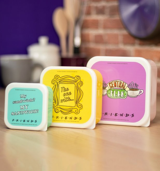Friends Set of Three Snack Boxes