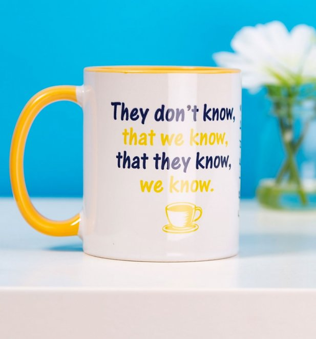 Friends They Don't Know Yellow Handle Mug