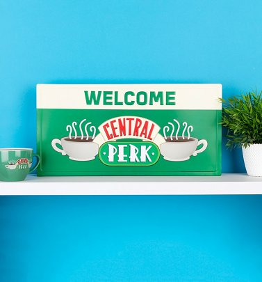 Friends Welcome To Central Perk Metal Sign