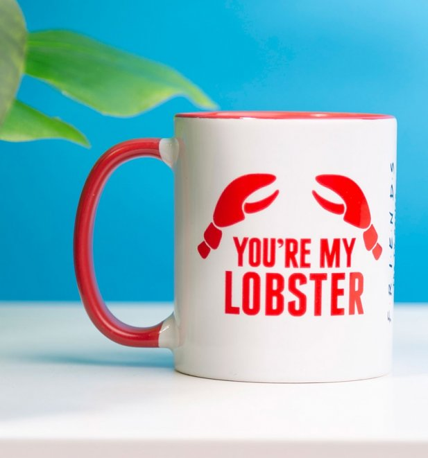 Friends You're My Lobster Red Handle Mug
