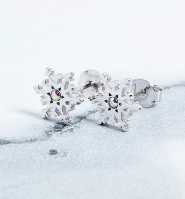 Frozen 2 Swarovski Crystal Snowflake Stud Earrings