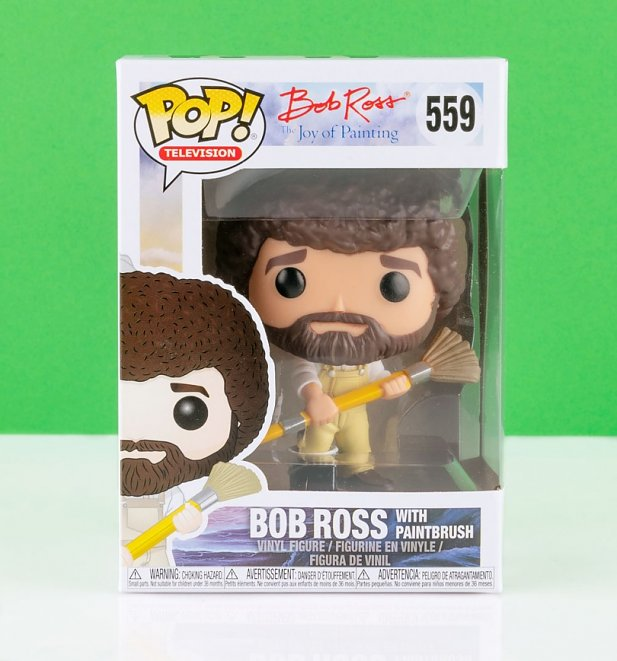 Funko Pop! Bob Ross In Overalls Vinyl Figure