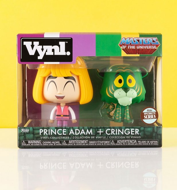 Funko Vynl Masters Of The Universe He-Man Prince Adam And Cringer Vinyl Figures