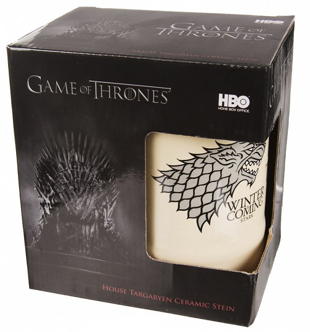 Game Of Thrones House Stark Ceramic Stein