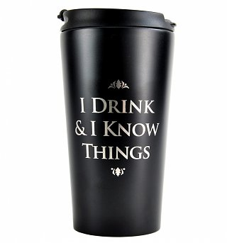 Game Of Thrones I Drink and I Know Things Metallic Travel Mug