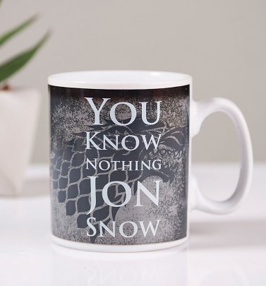 Game Of Thrones Jon Snow Heat Changing Mug