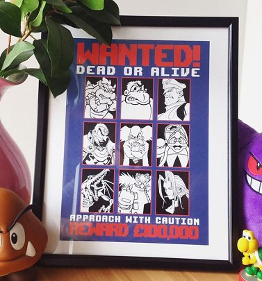 Gaming Villains 11x14 Framed Art Print