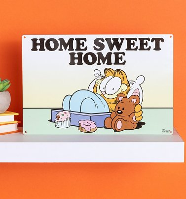 Garfield Home Sweet Home Metal Sign