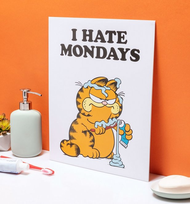"Garfield I Hate Mondays 11"" x 14"" Art Print"