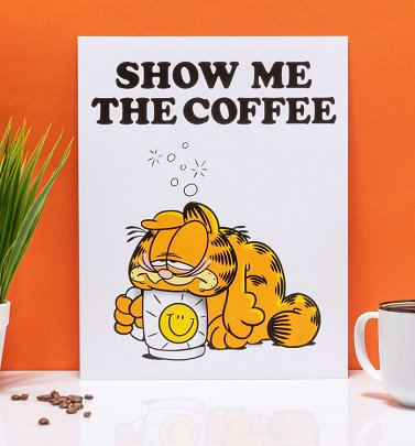 "Garfield Show Me The Coffee 11"" x 14"" Art Print"